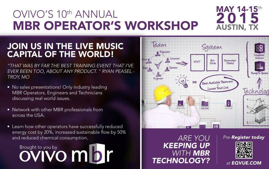 Ovivo's 10th Annual MBR Operator's Works...