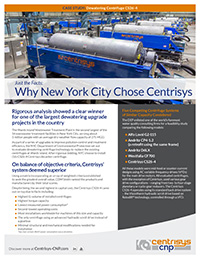 New York City Dewatering Centrifuges Cas...