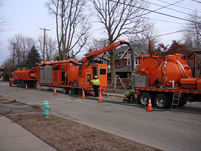 Large Diameter Sewer Cleaning