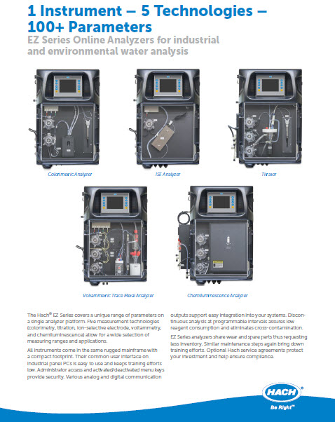 EZ Series Online Analyzers for industria...