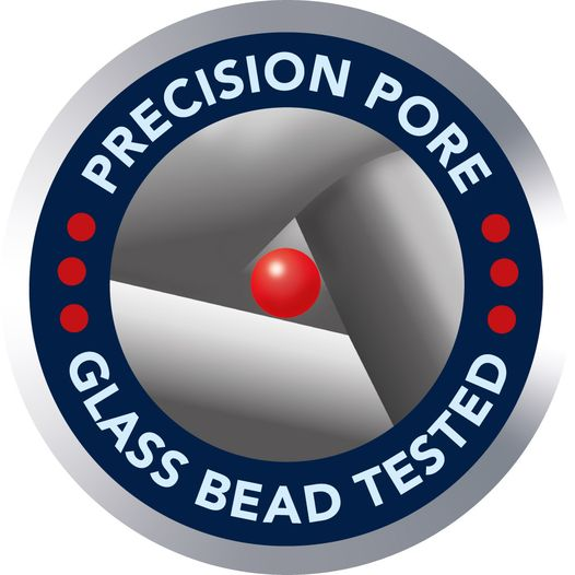 Glass-bead tested: MINIMESH® S Metal-Filter-Cloth